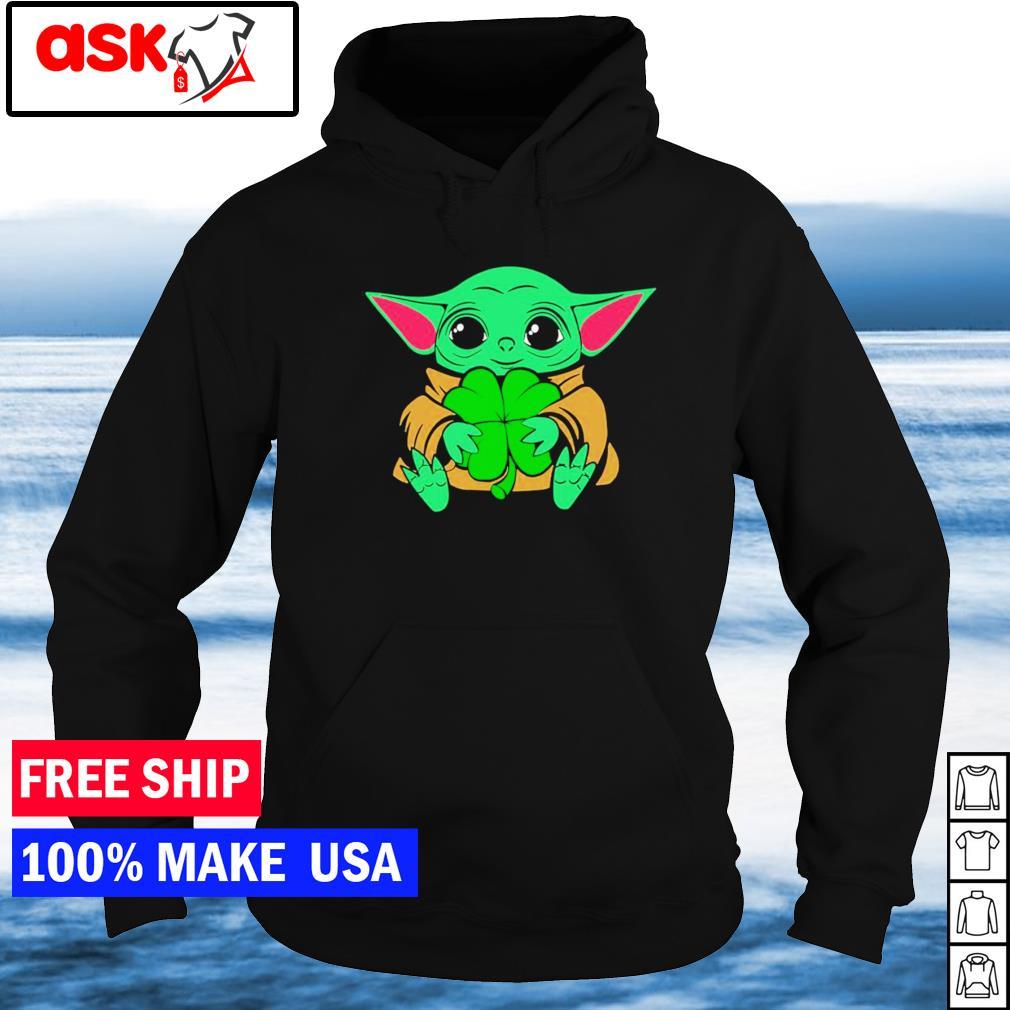 Baby Yoda happy St Patrick's Day s hoodie