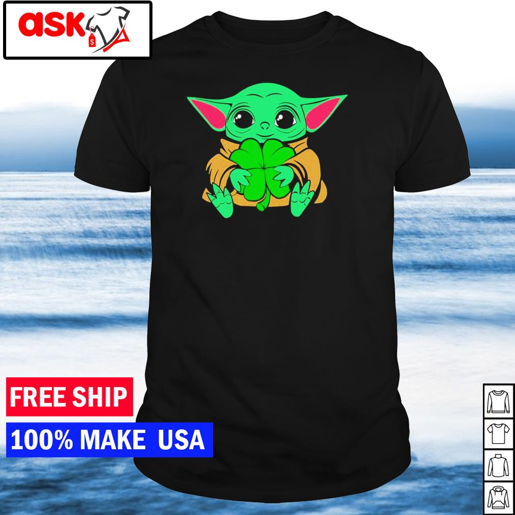 Baby Yoda happy St Patrick's Day shirt