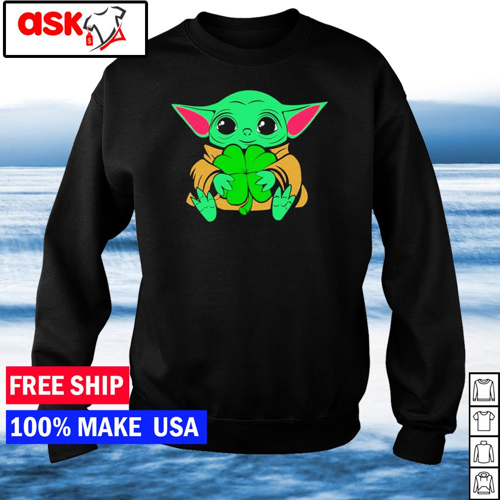Baby Yoda happy St Patrick's Day s sweater