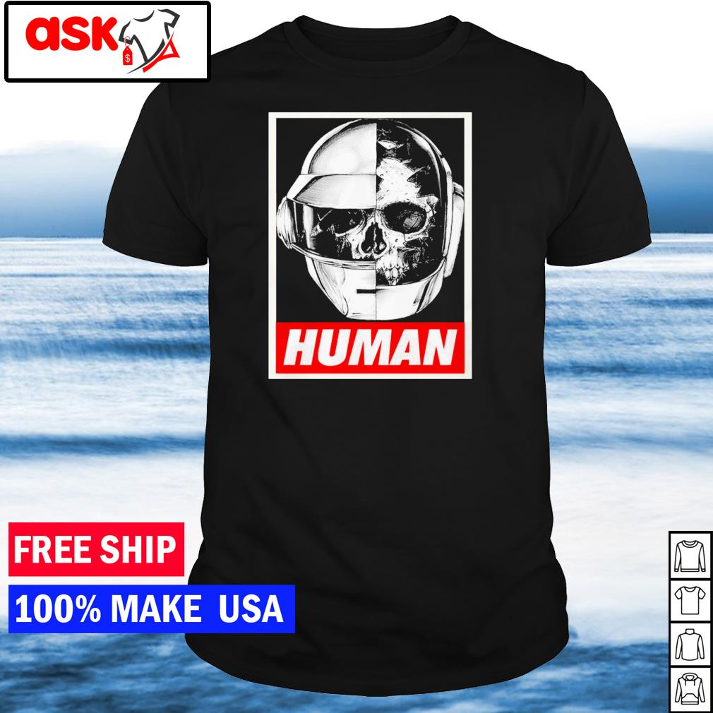 Daft Punk helmet human shirt