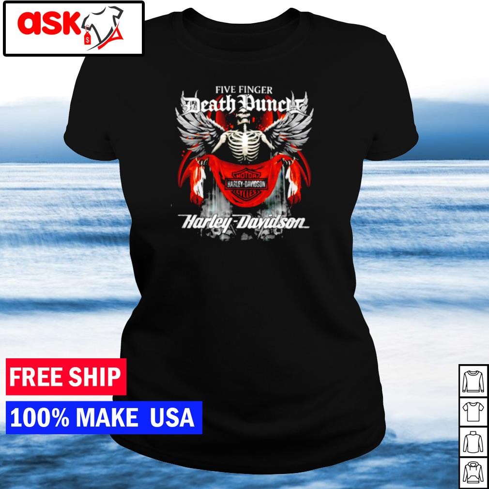 Five Finger Death Punch Death Motor Harley Davidson Cycles s ladies tee