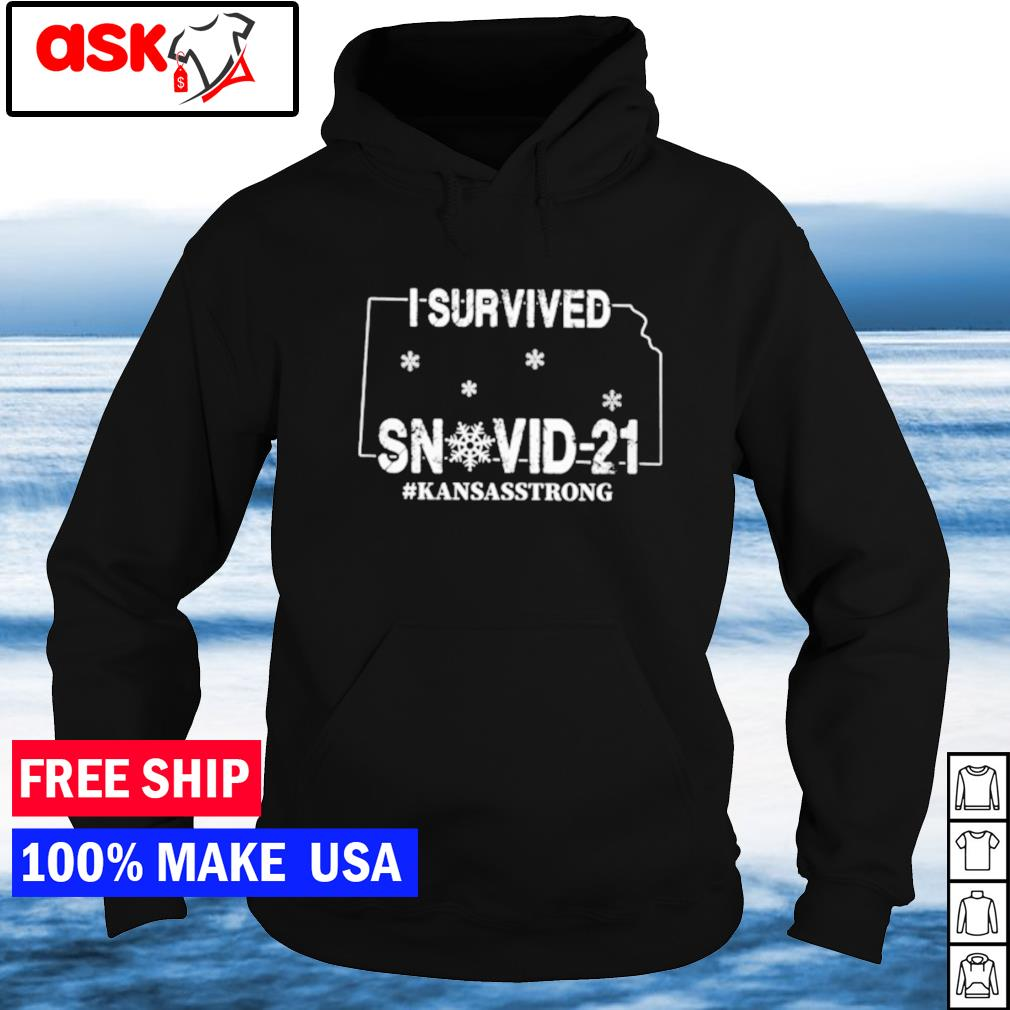 I survived snovid-21 Kansas strong covid s hoodie