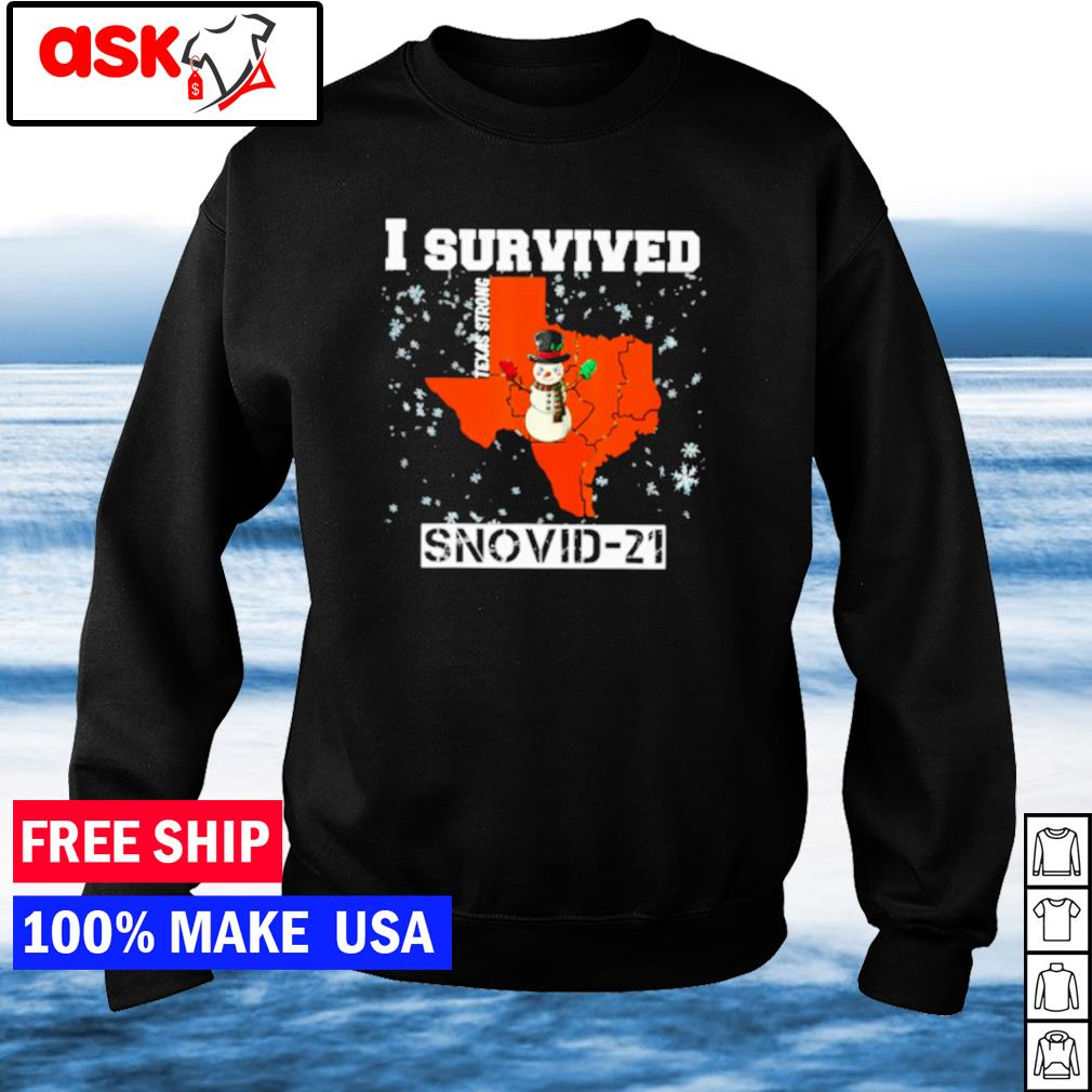 I survived Texas strong snovid-21 snowman covid s sweater