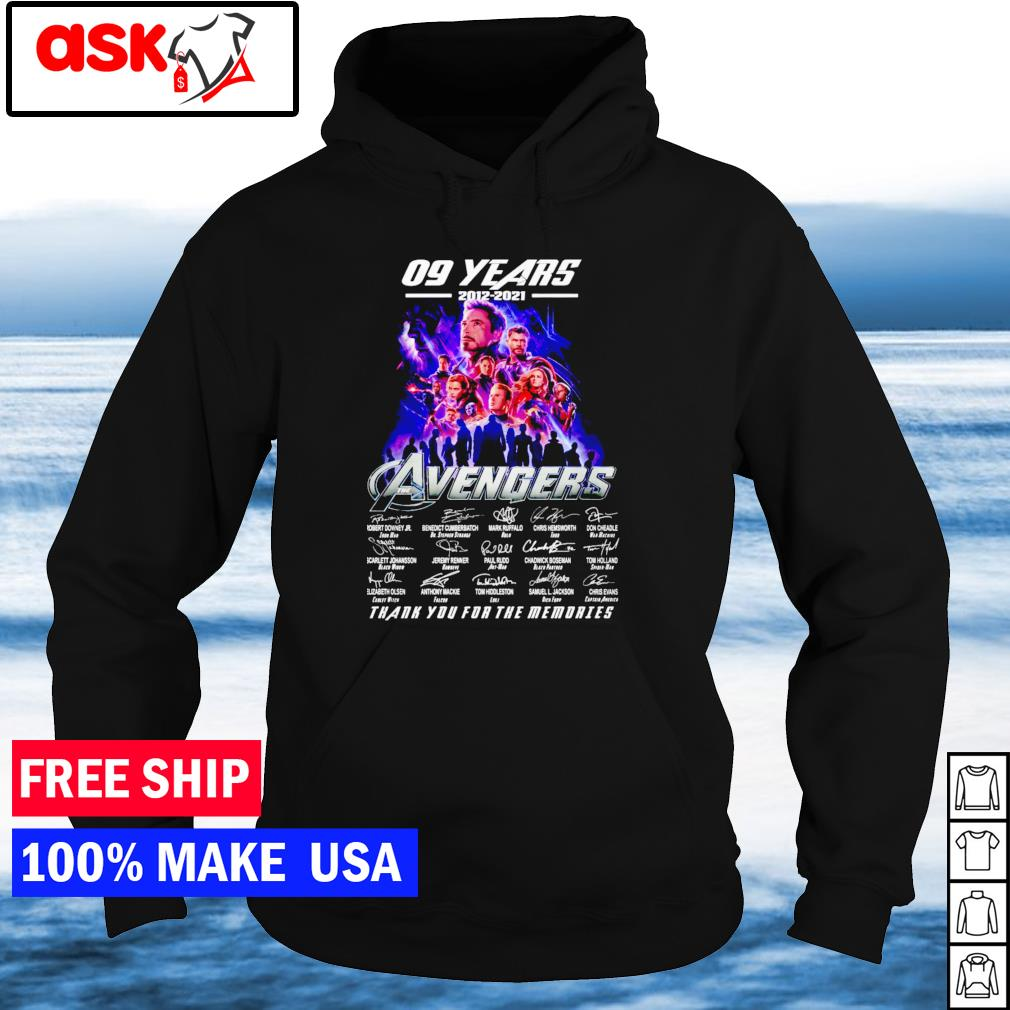09 years of Avengers 2012-2021 thank you for the memories signature s hoodie
