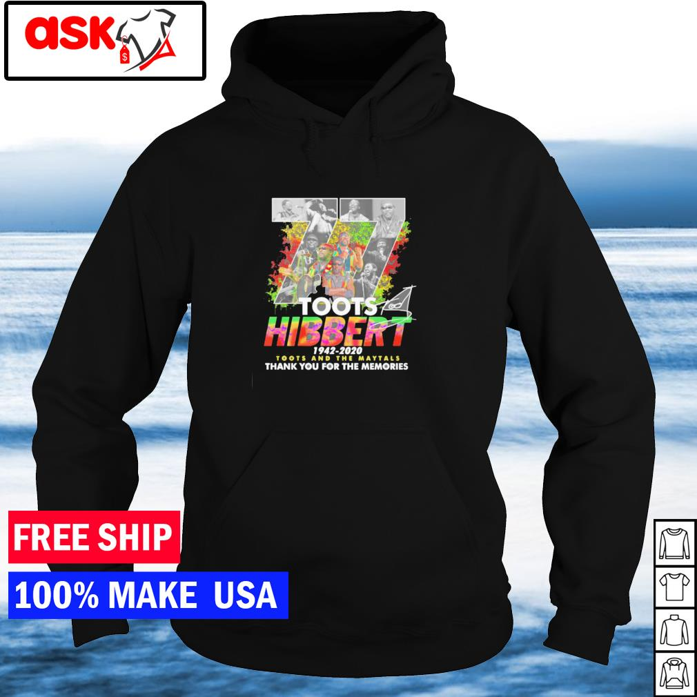77 years of Toots Hibbert 1942-2020 Toots and The Maytals thank you for the memories s hoodie