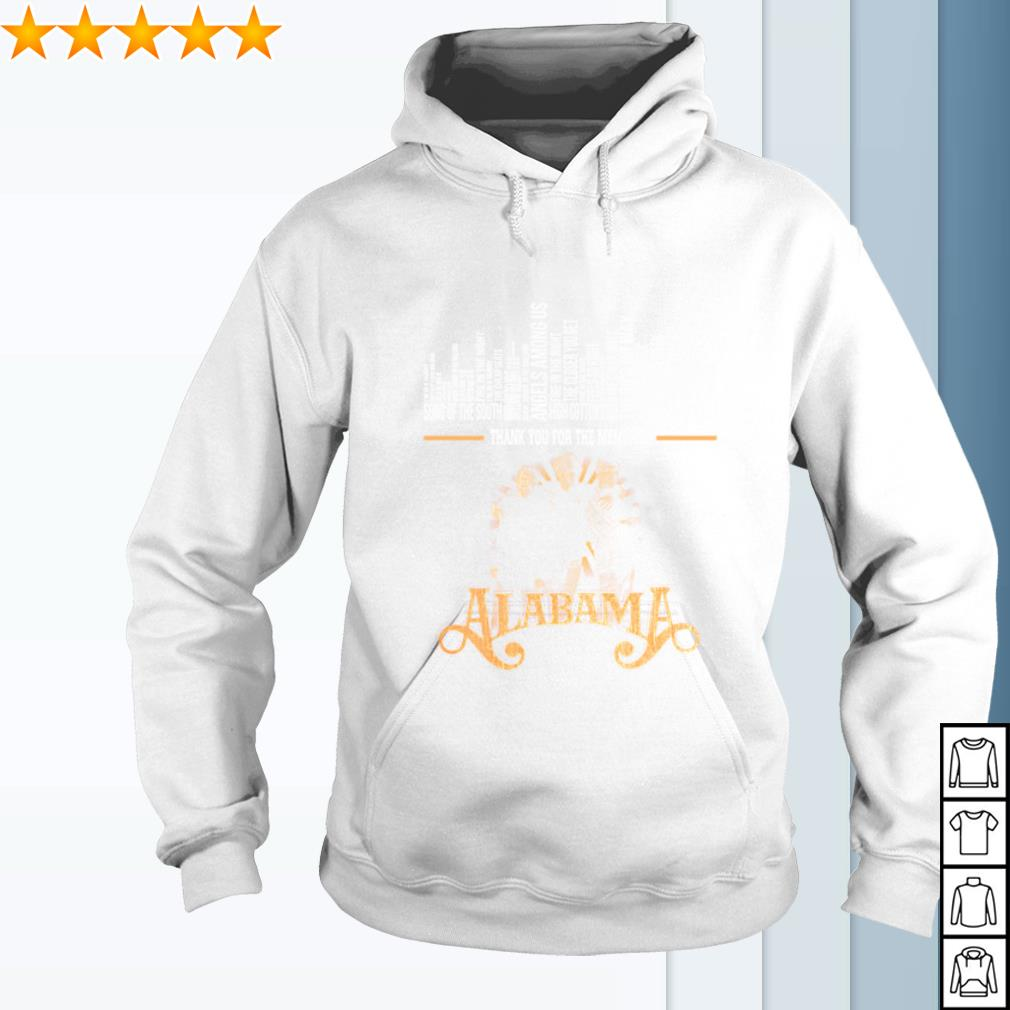 Alabama band thank you for the memories signature s hoodie