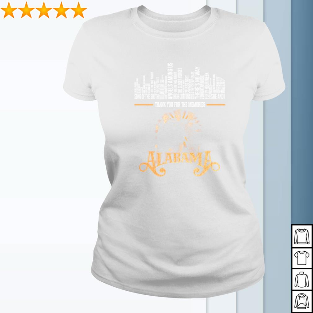 Alabama band thank you for the memories signature s ladies-tee
