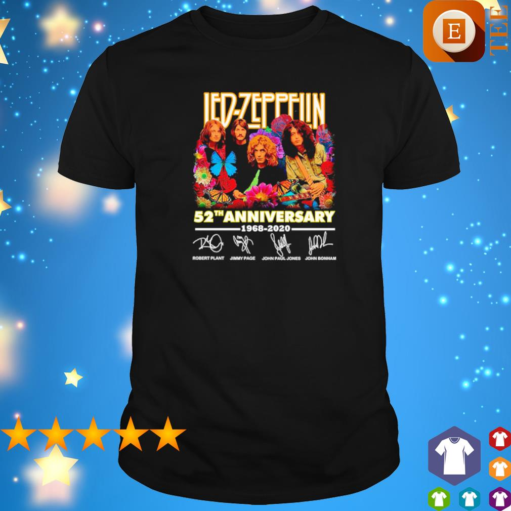 Led-Zeppelin 52th anniversary 1969 2020 signature shirt