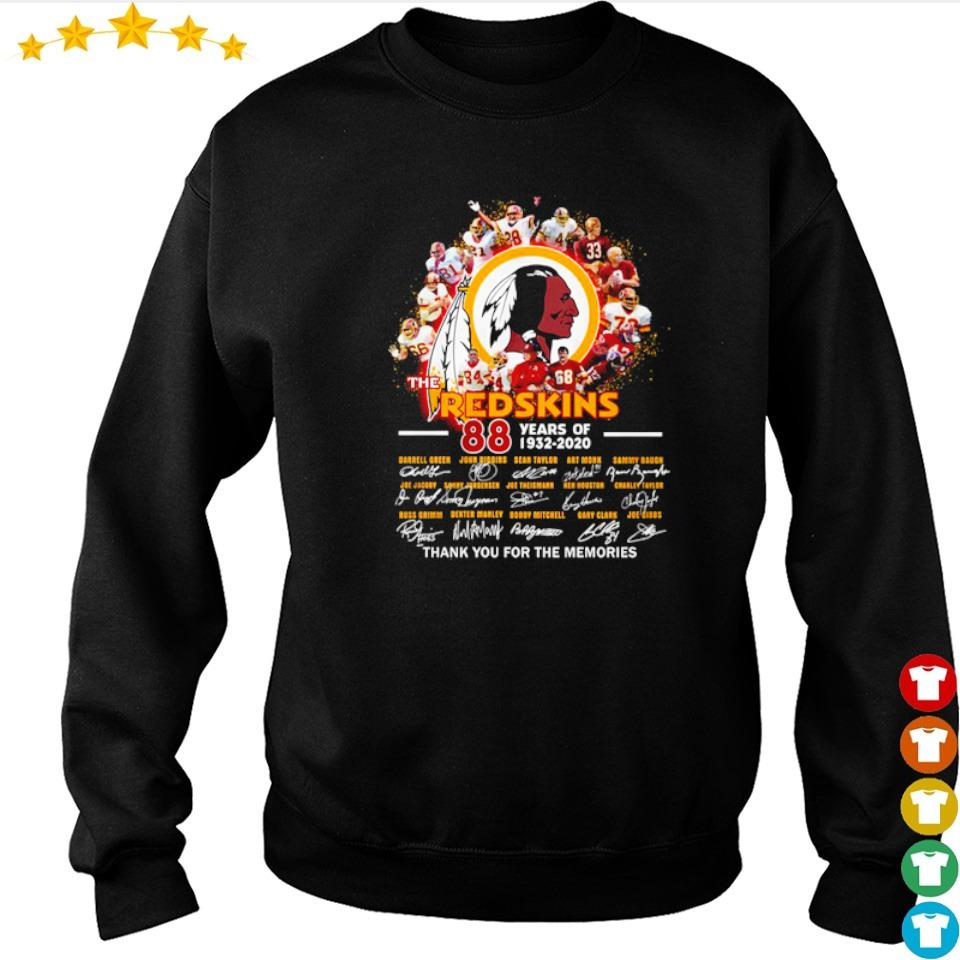 88 years of The Redskins thank you for the memories signatures s sweater