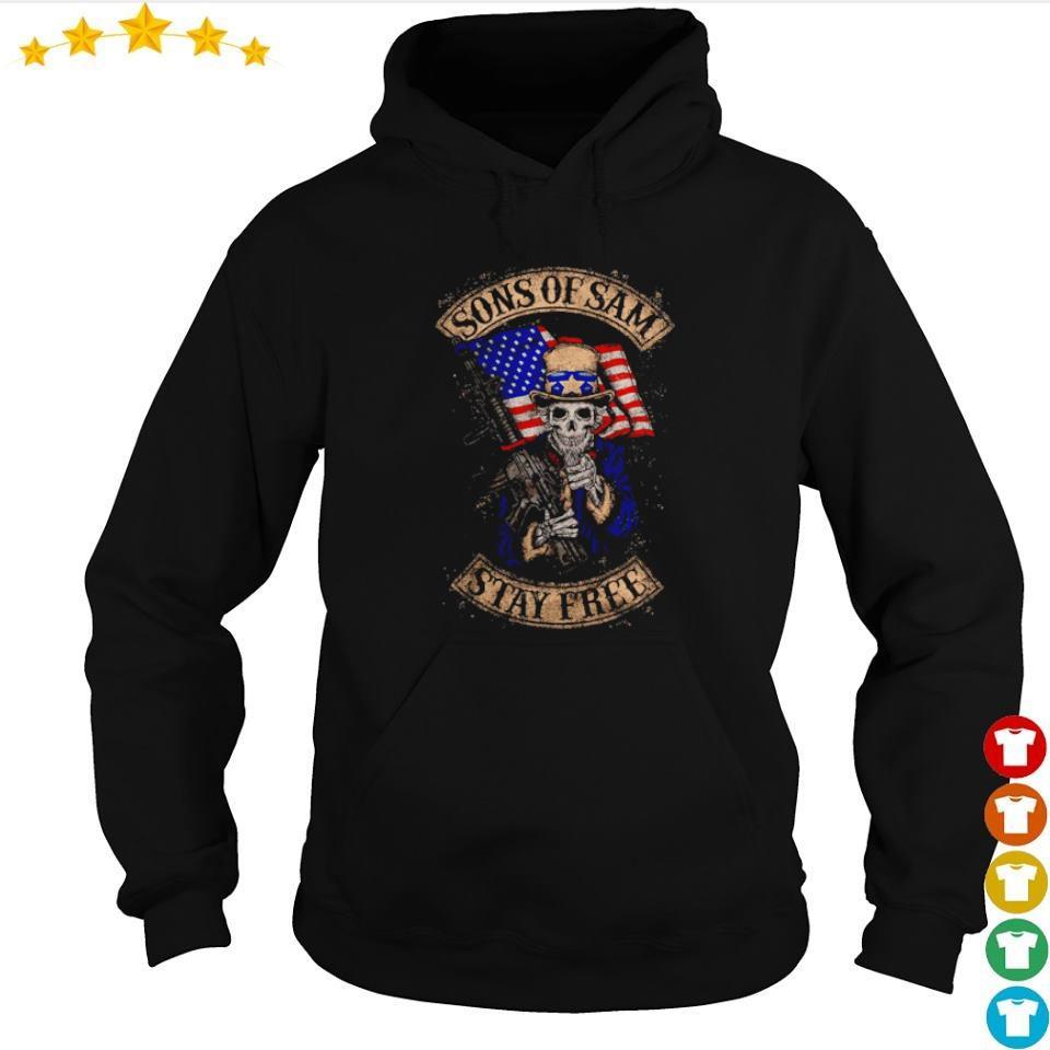 American Flag Sekeleton sons of Sam stay free s hoodie