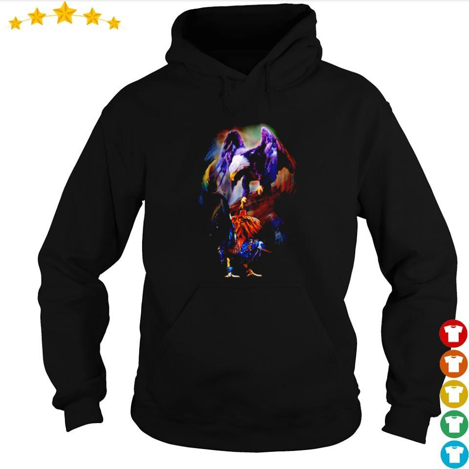 Awesome Rooster vs Eagle s hoodie