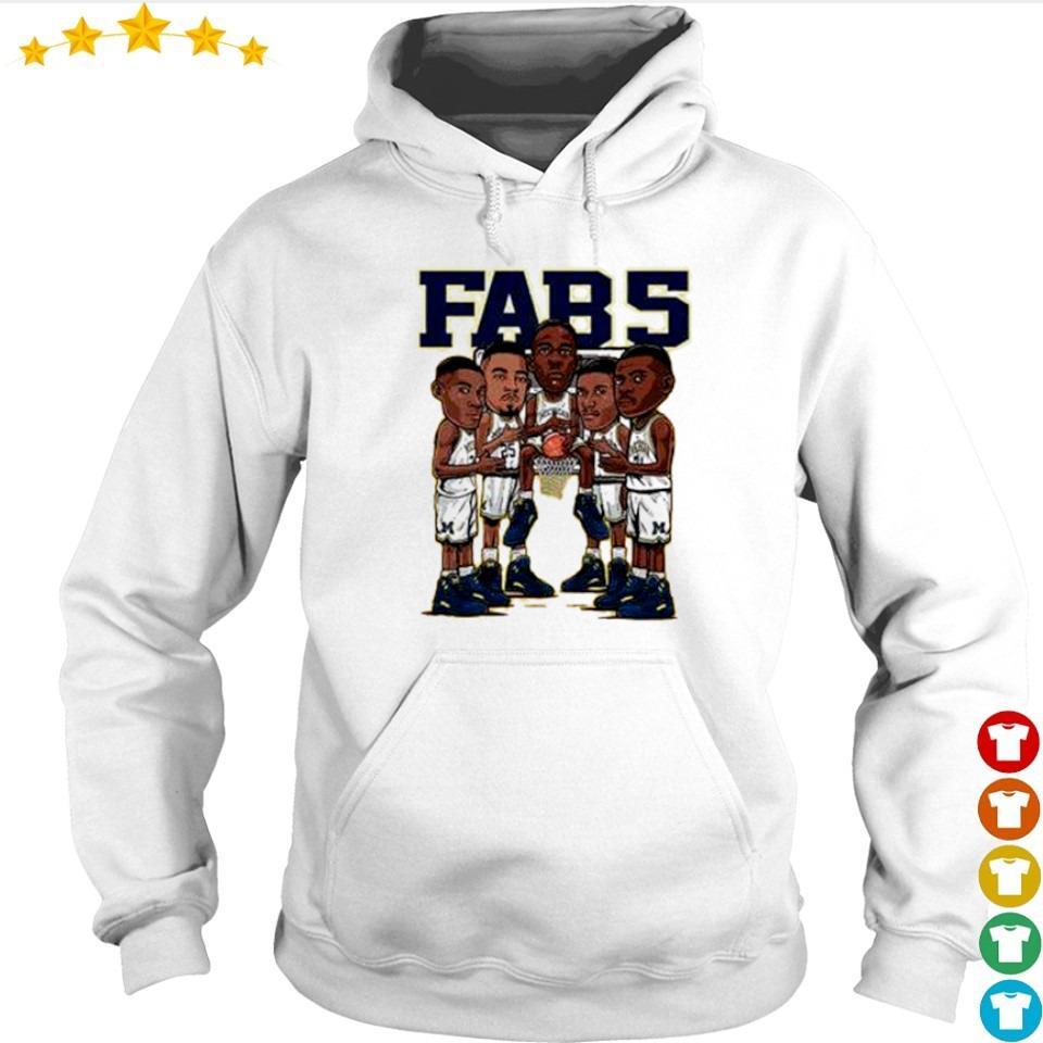Fab 5 Michigan wearing Jordan 12 Fab 5 s hoodie