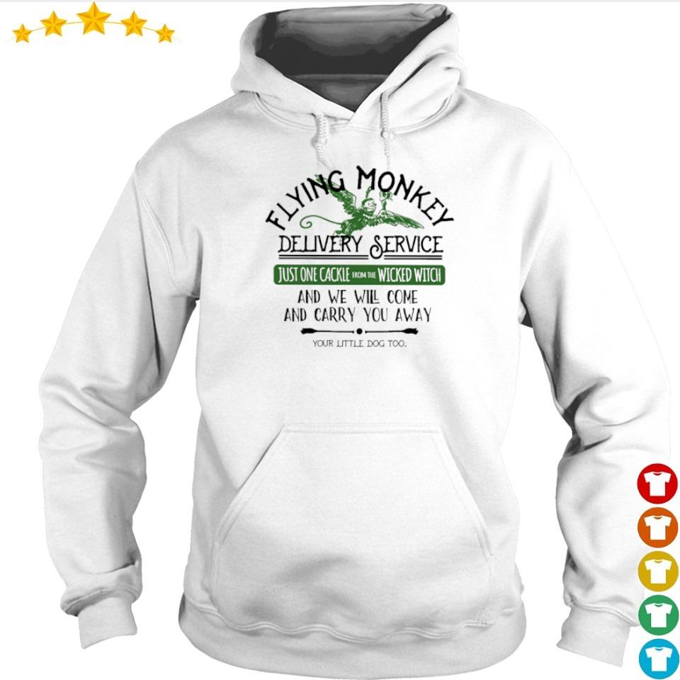 Flying money delivery service just one cackle wicked witch s hoodie