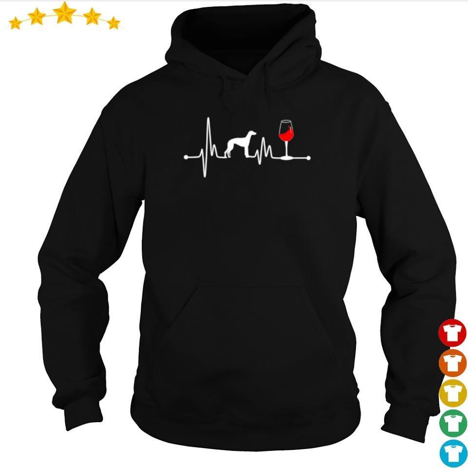 Heartbeat Ekg Pulse Greyhound And Wine s hoodie