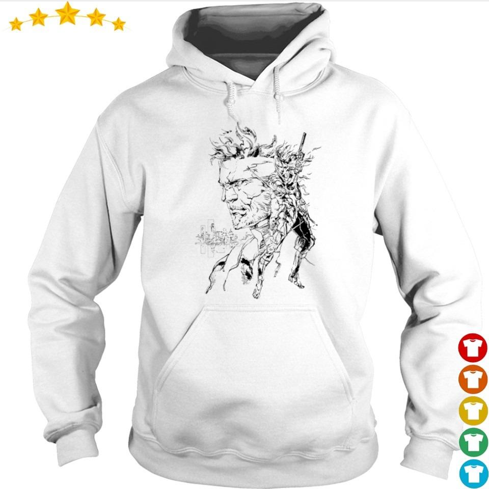Metal Gear Solid Solid Snake and Raiden s hoodie