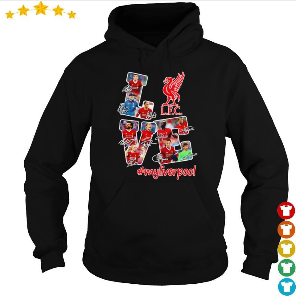 #myliverpool FC love signatures s hoodie