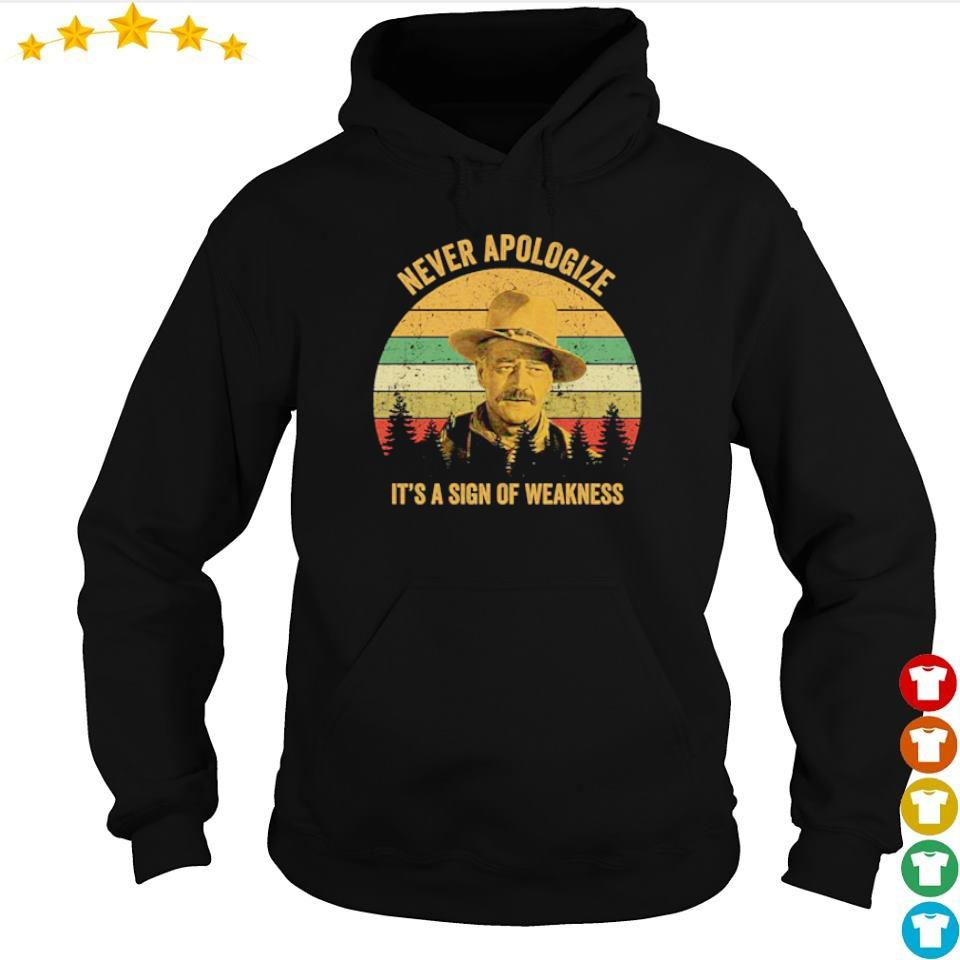 Never apologize it's a sign of weakness s hoodie