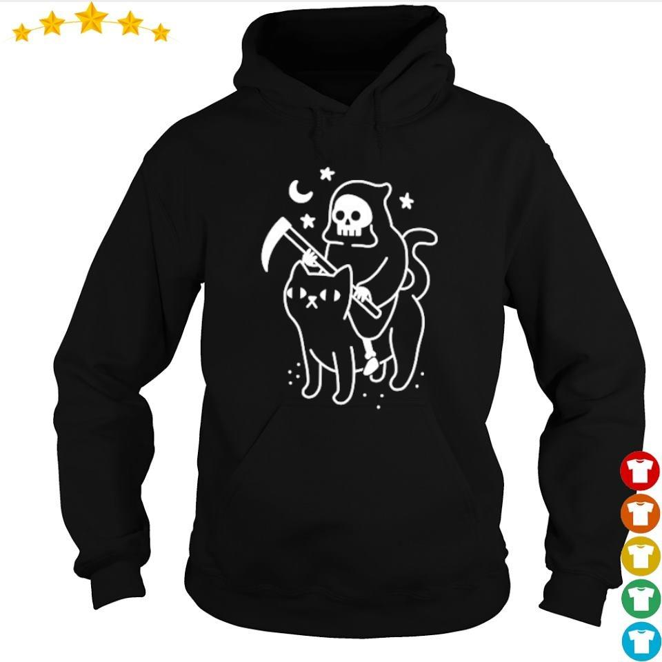 Official Death riding cat s hoodie