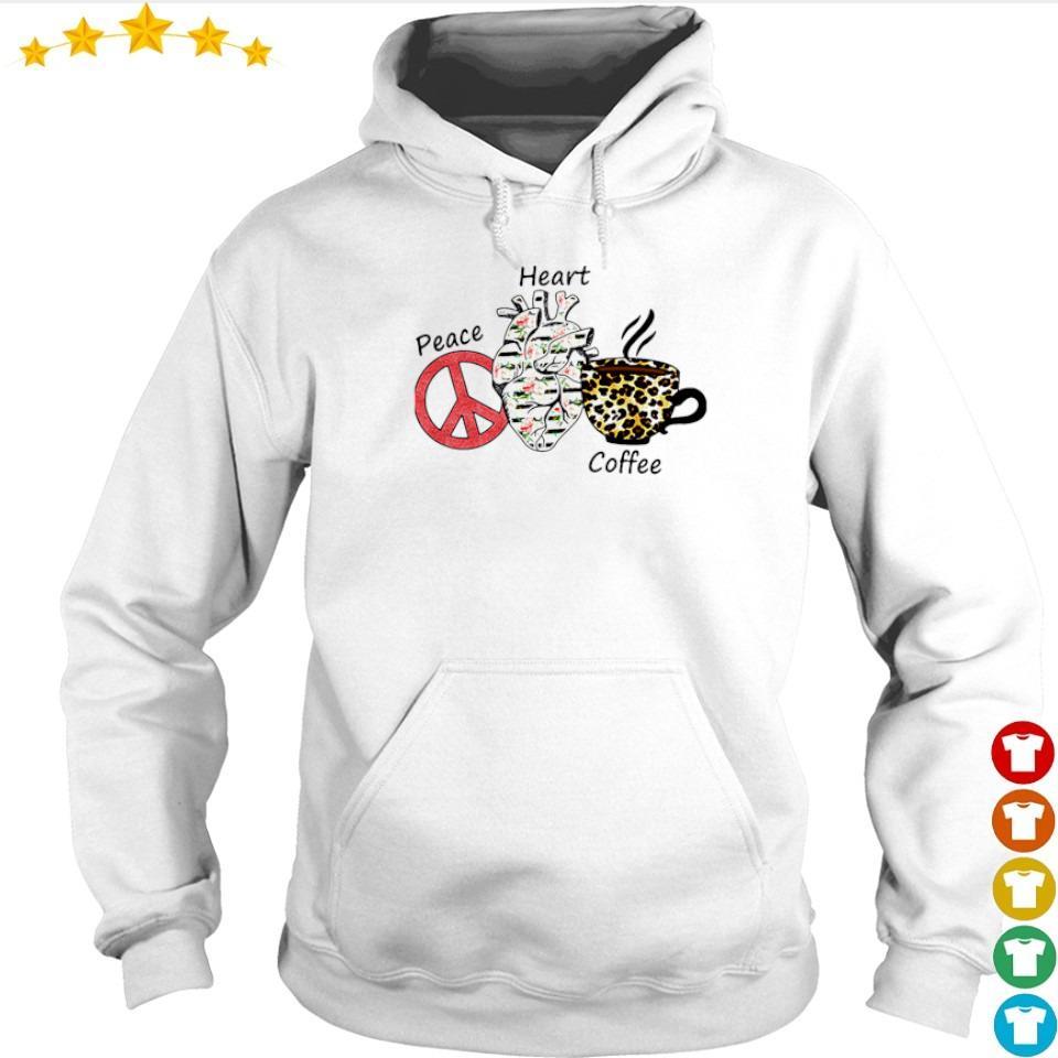 Peace Heart Coffee Flowers Leopard s hoodie