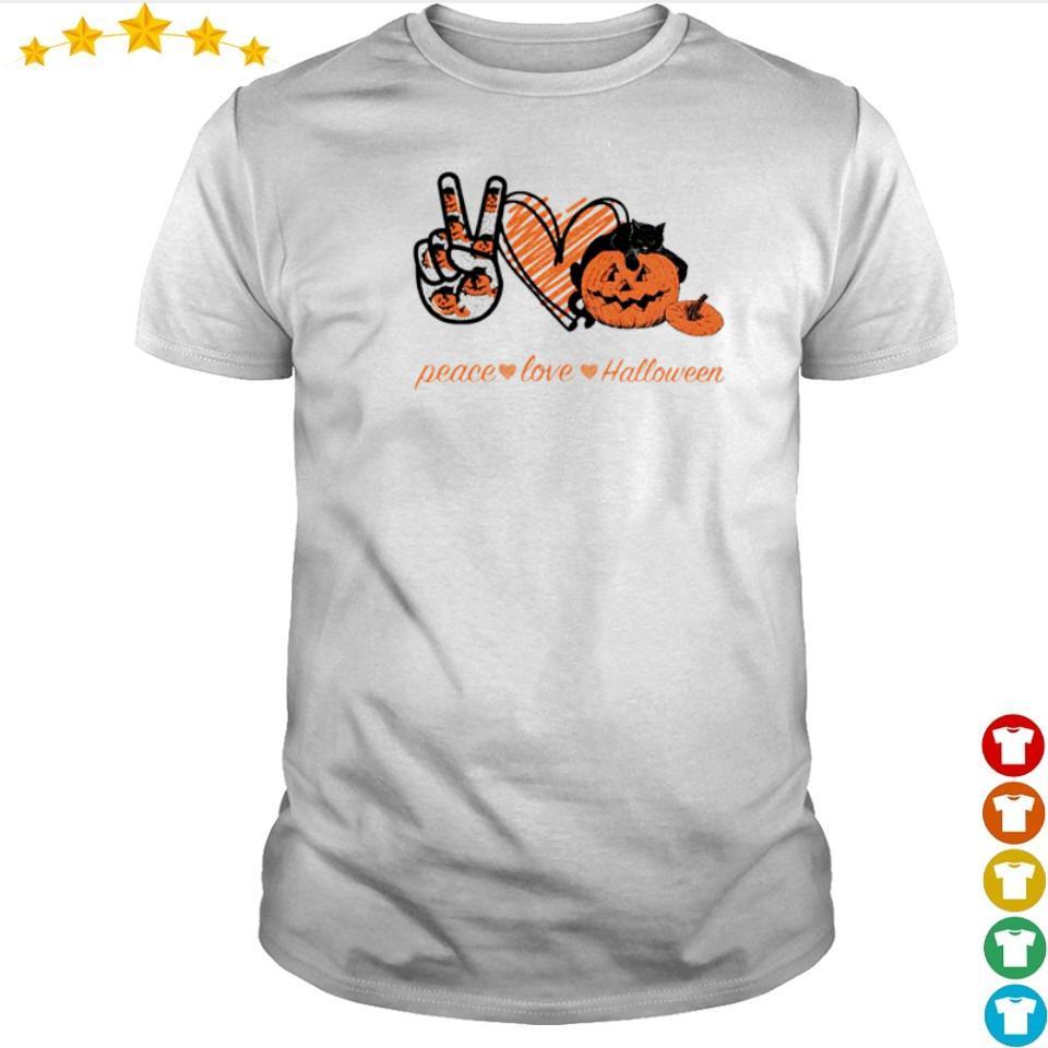 Peace love and Halloween shirt