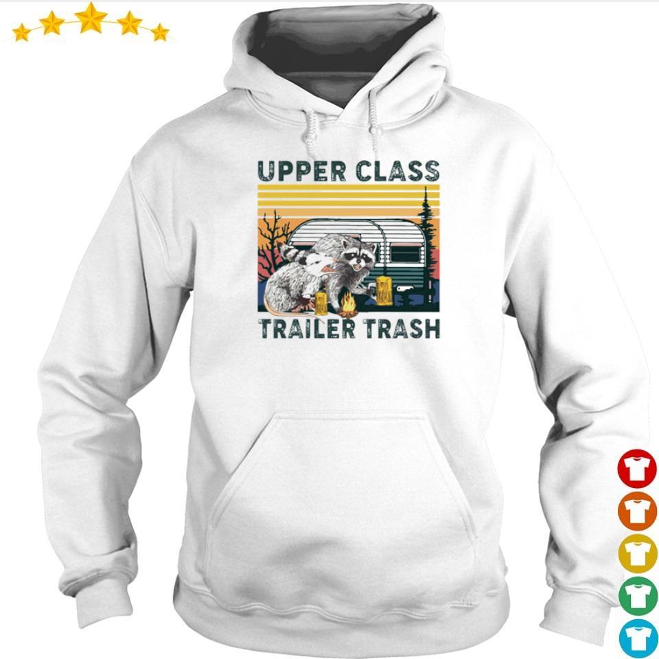 Racoon upper class trailer trash vintage s hoodie