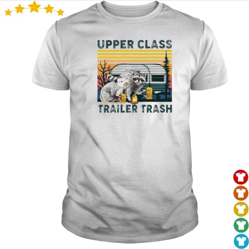 Racoon upper class trailer trash vintage shirt