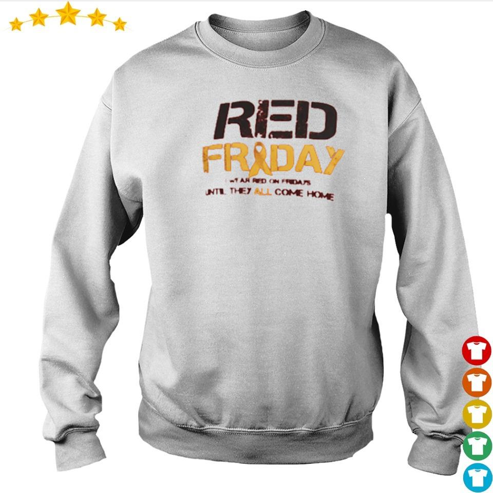 Red Friday red on fridays until they all come home s sweater