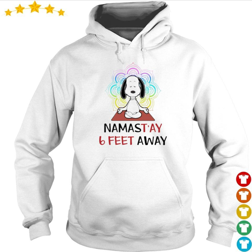 Snoppy mamstay 6 feet away s hoodie
