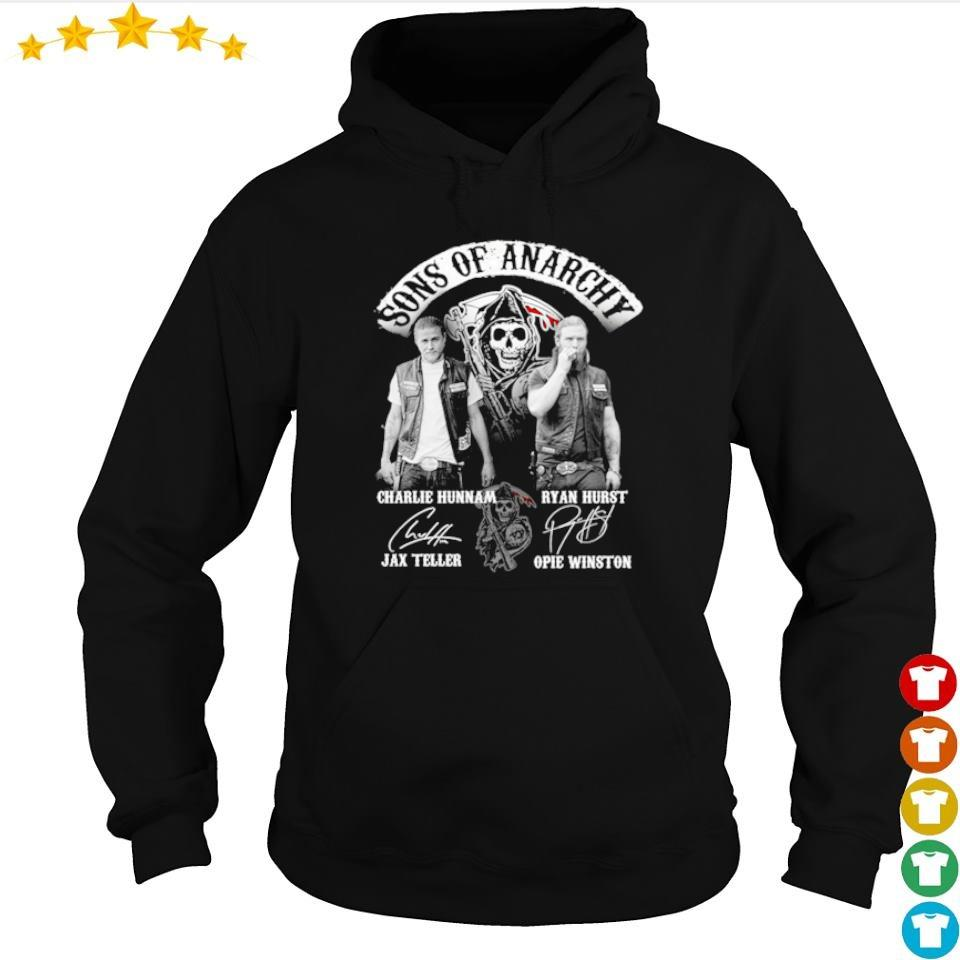 Sons of Anarchy Charkue Hunnam and Ryan Hurst signatures s hoodie