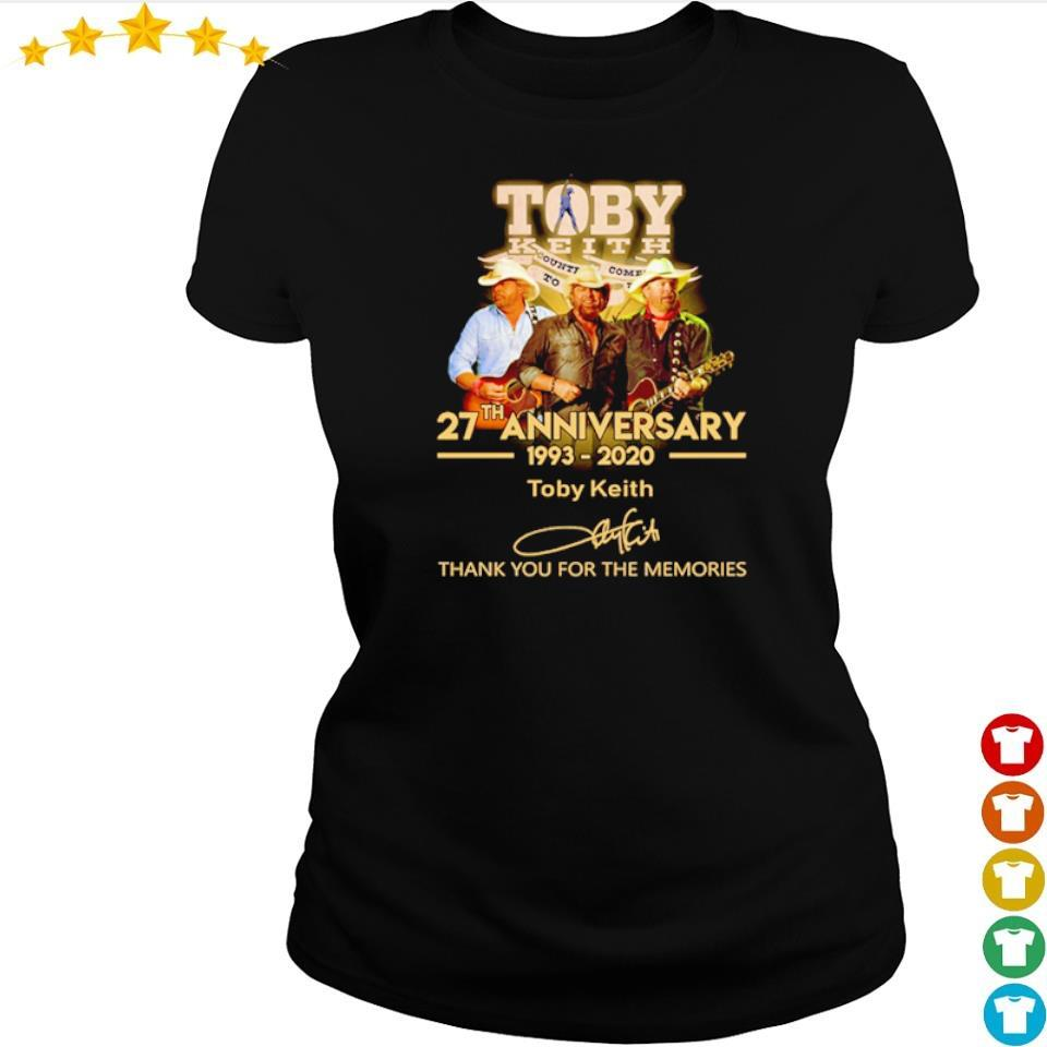 Toby Keith 27th anniversary thank you for the memories s ladies tee