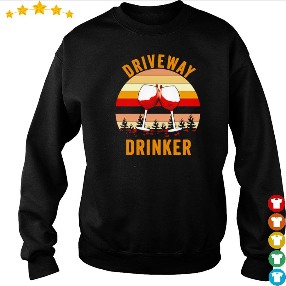 Wine drive way drinker vintage s sweater