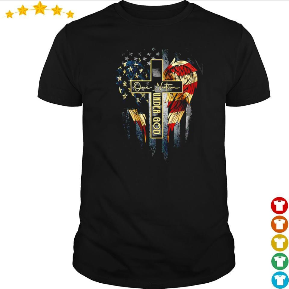 American Flag Wings one nation under God shirt
