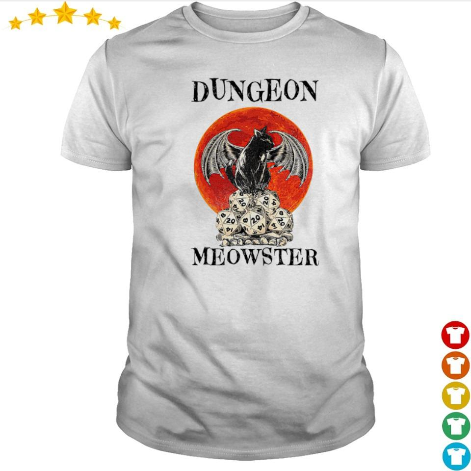 Black cat dungeon Meowster shirt