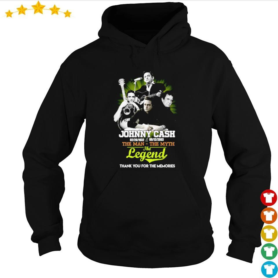Johnny Cash The Man The Myth The Legend thank you for the memories s hoodie