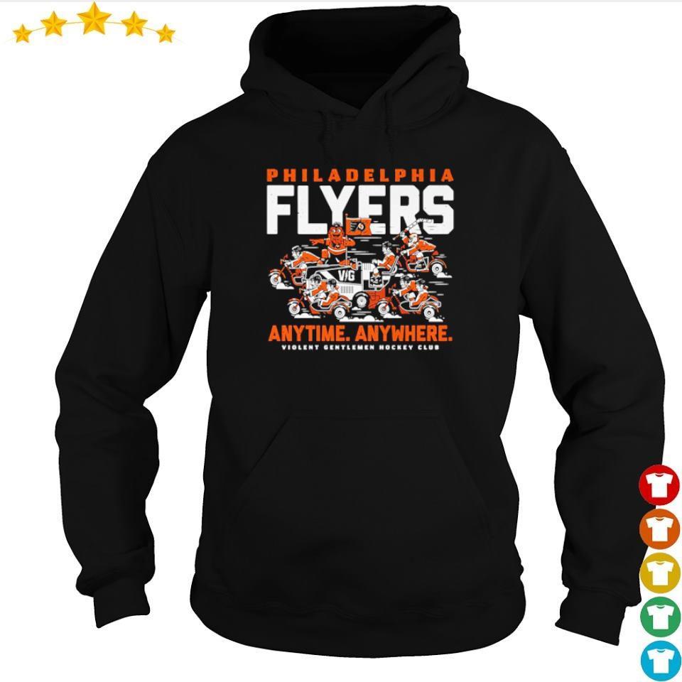 Philadelphia Fylers anytime anywhere violent gentlemen hockey club s hoodie