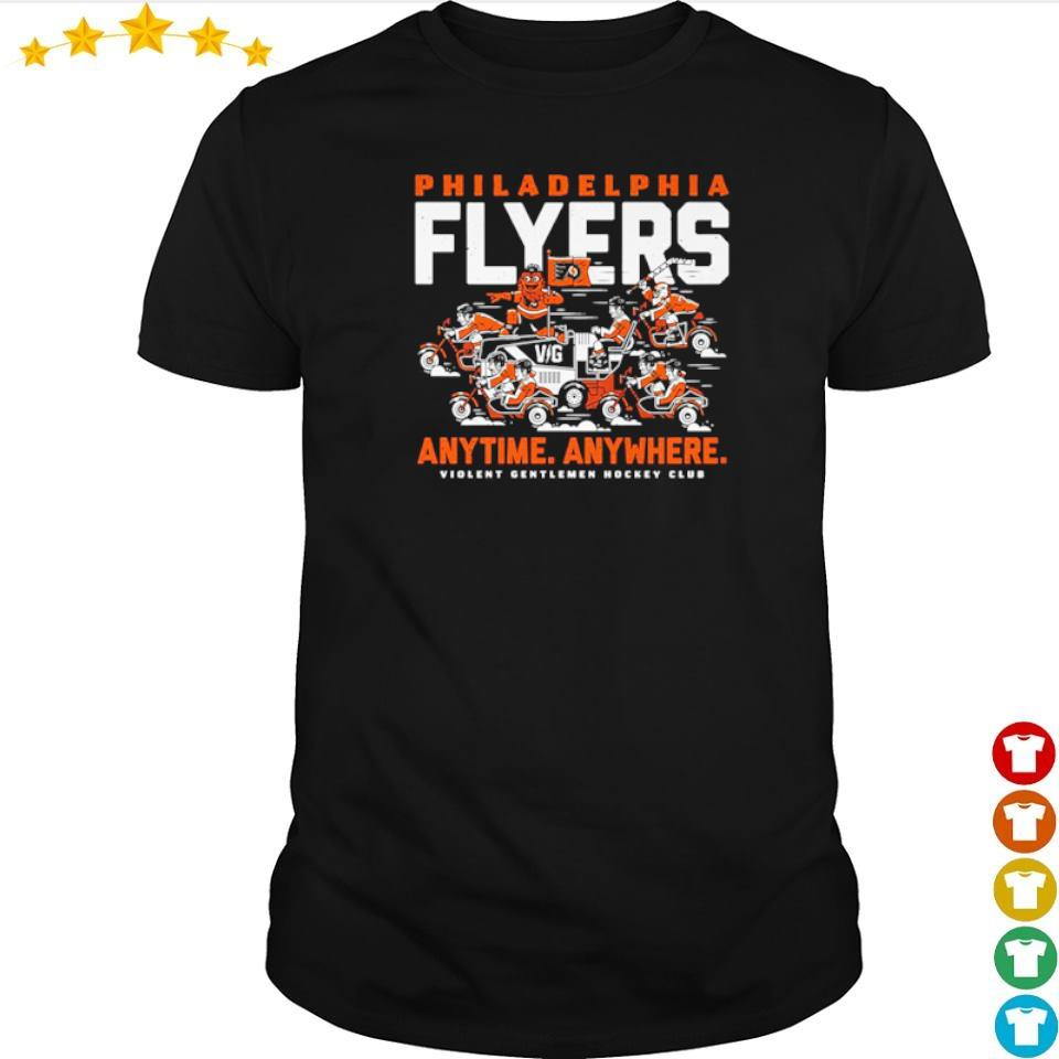 Philadelphia Fylers anytime anywhere violent gentlemen hockey club shirt