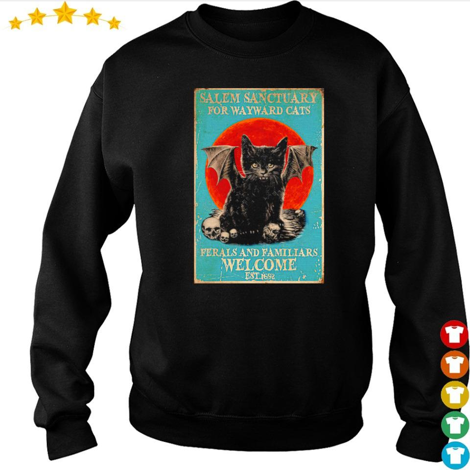 Salem sanctuary for wayward cats ferals and familiars welcome est 1692 s sweater