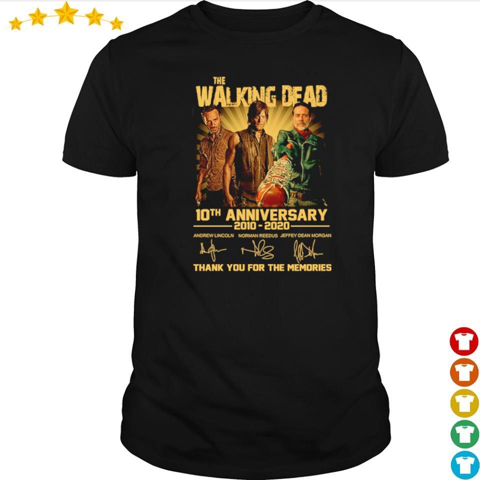 The Walking Dead 10th anniversary thank you for the memories shirt