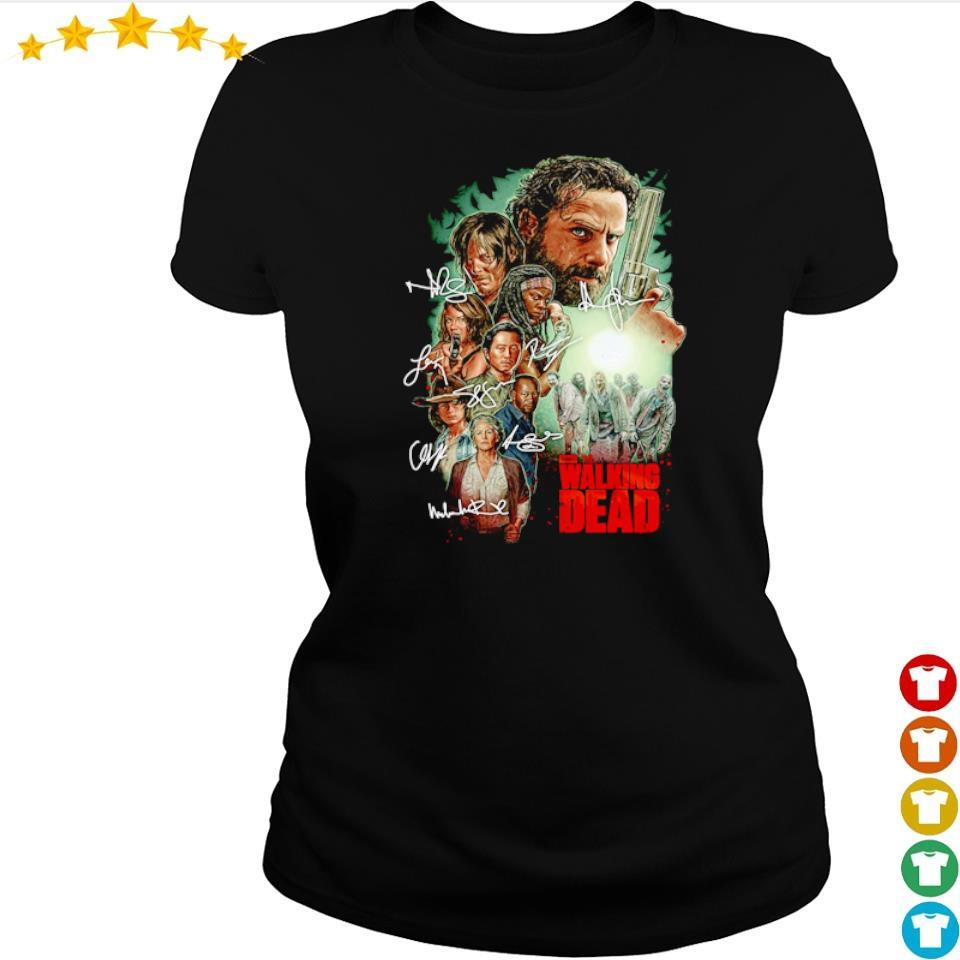 The Walking Dead characters's signature s ladies tee