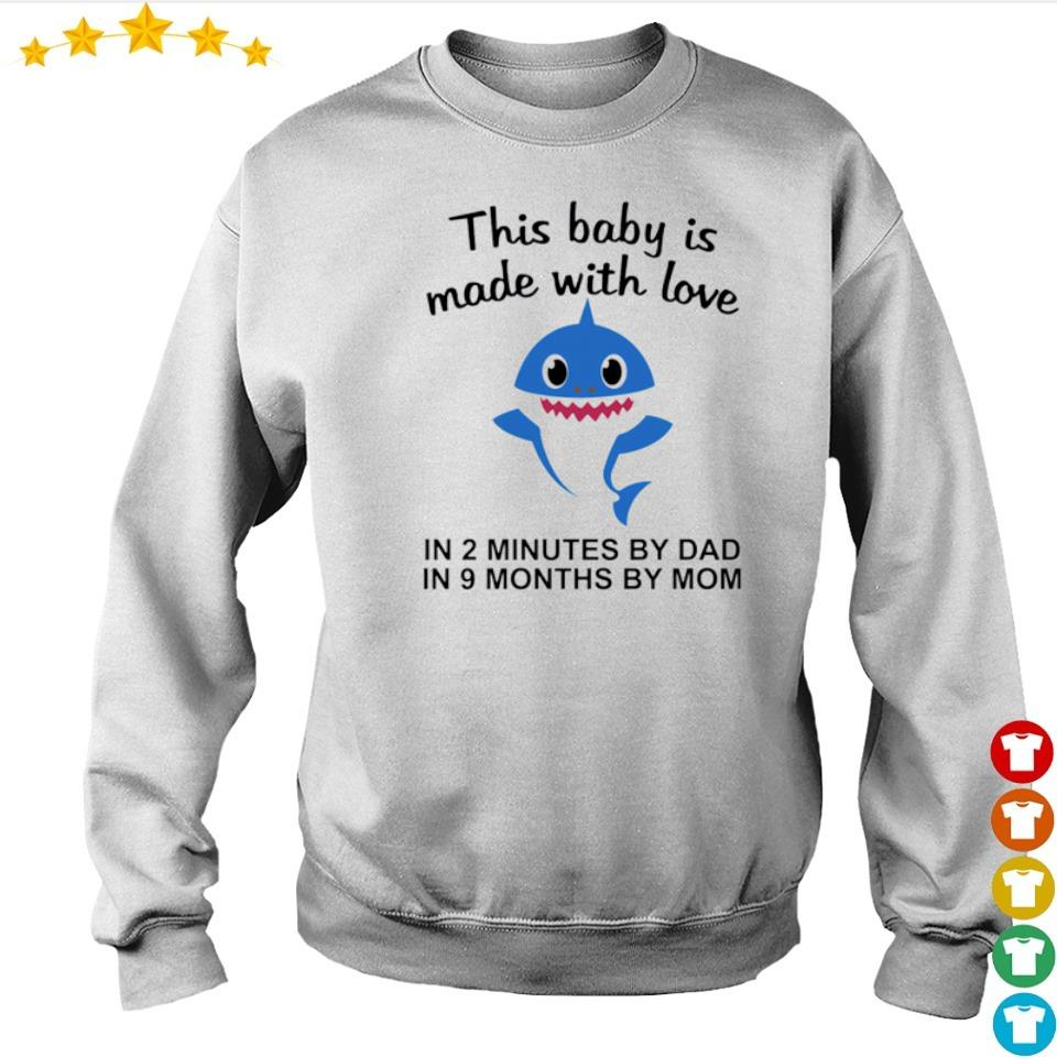 This baby is made with love in 2 minutes by dad in 9 months by mom s sweater