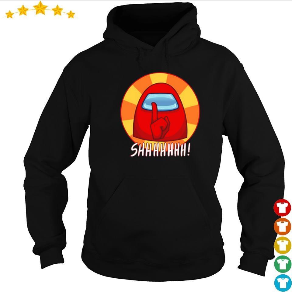 Among Us red character shhhhhhh s hoodie