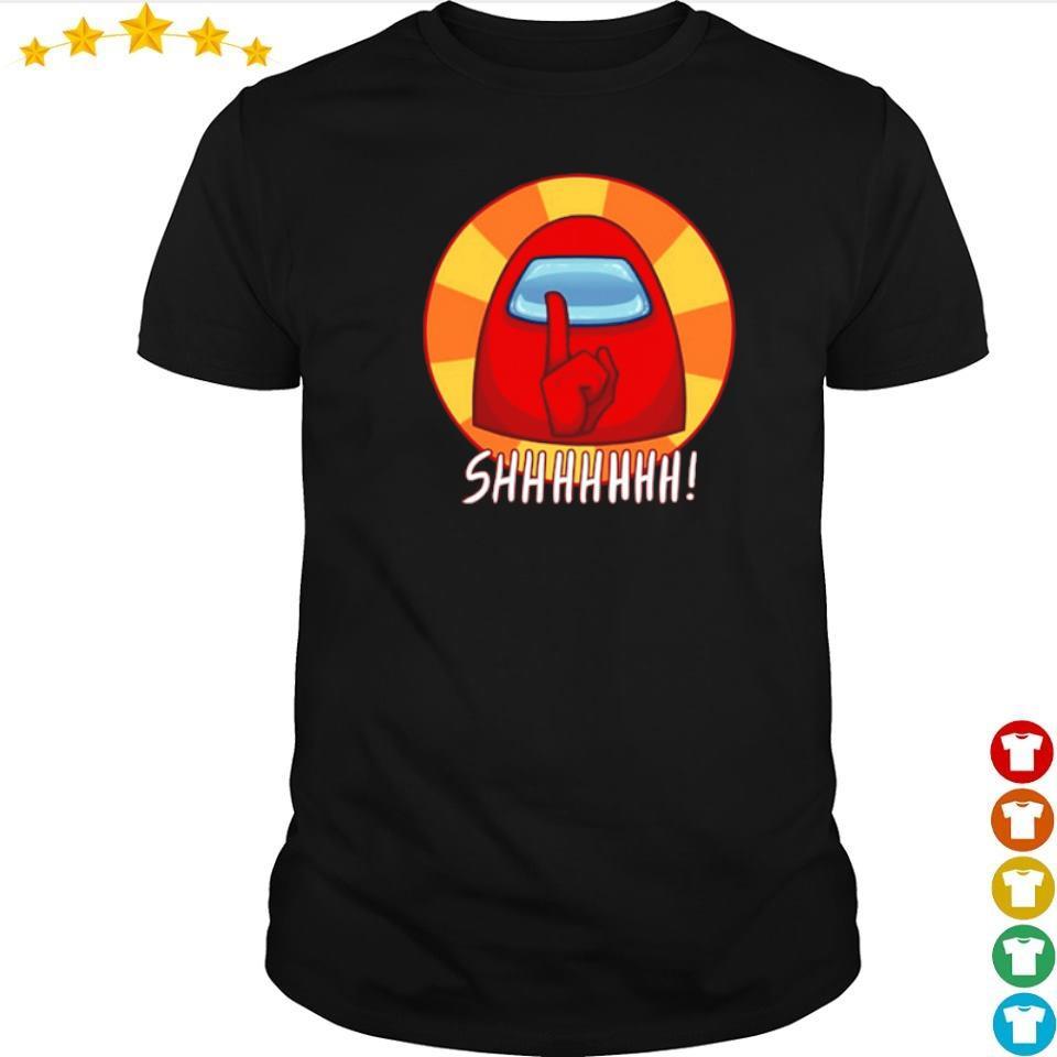 Among Us red character shhhhhhh shirt
