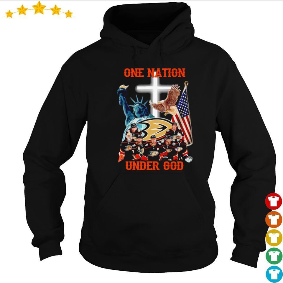 Anaheim Ducks one nation under God American Flag s hoodie