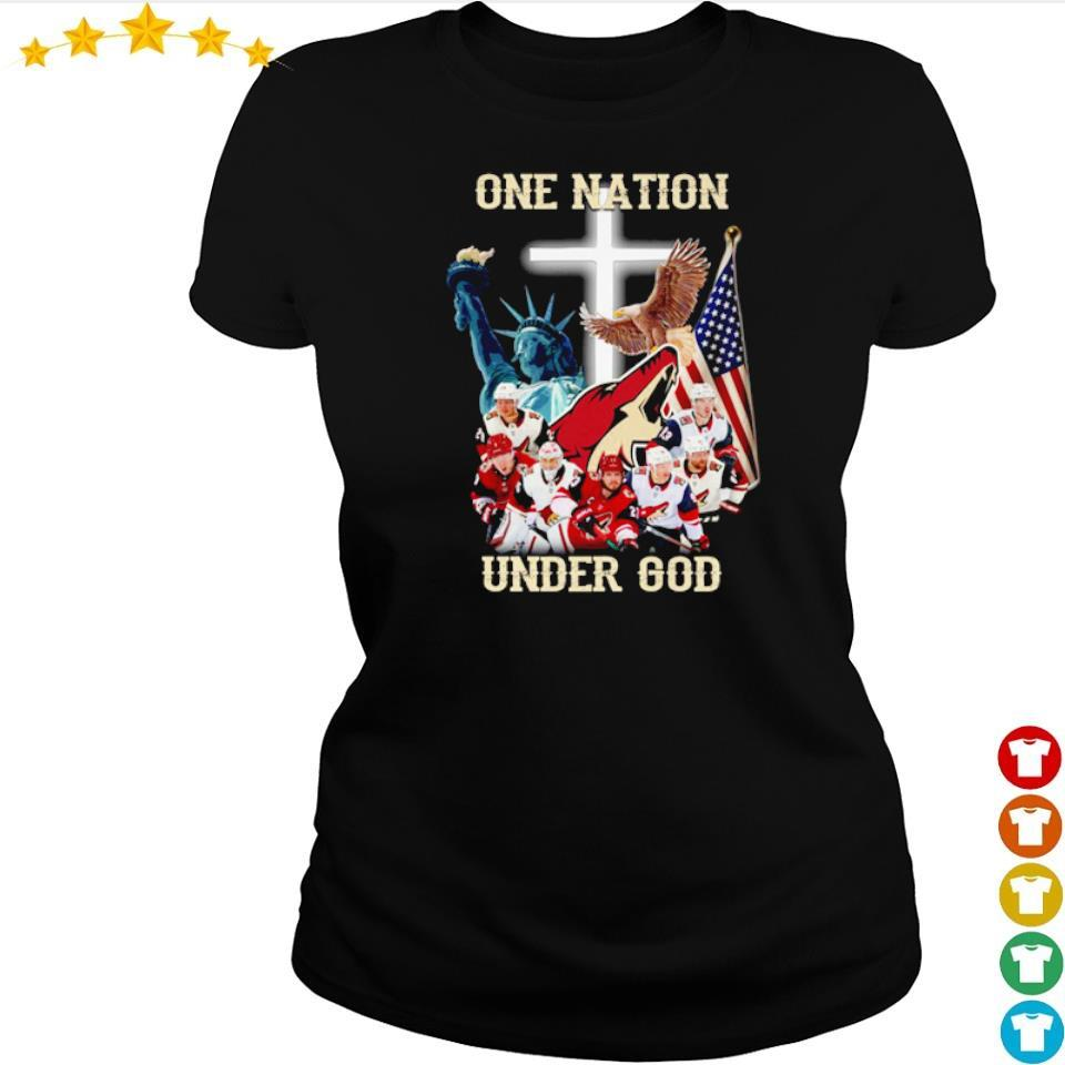Arizona Coyotes one nation under God American Flag s ladies tee