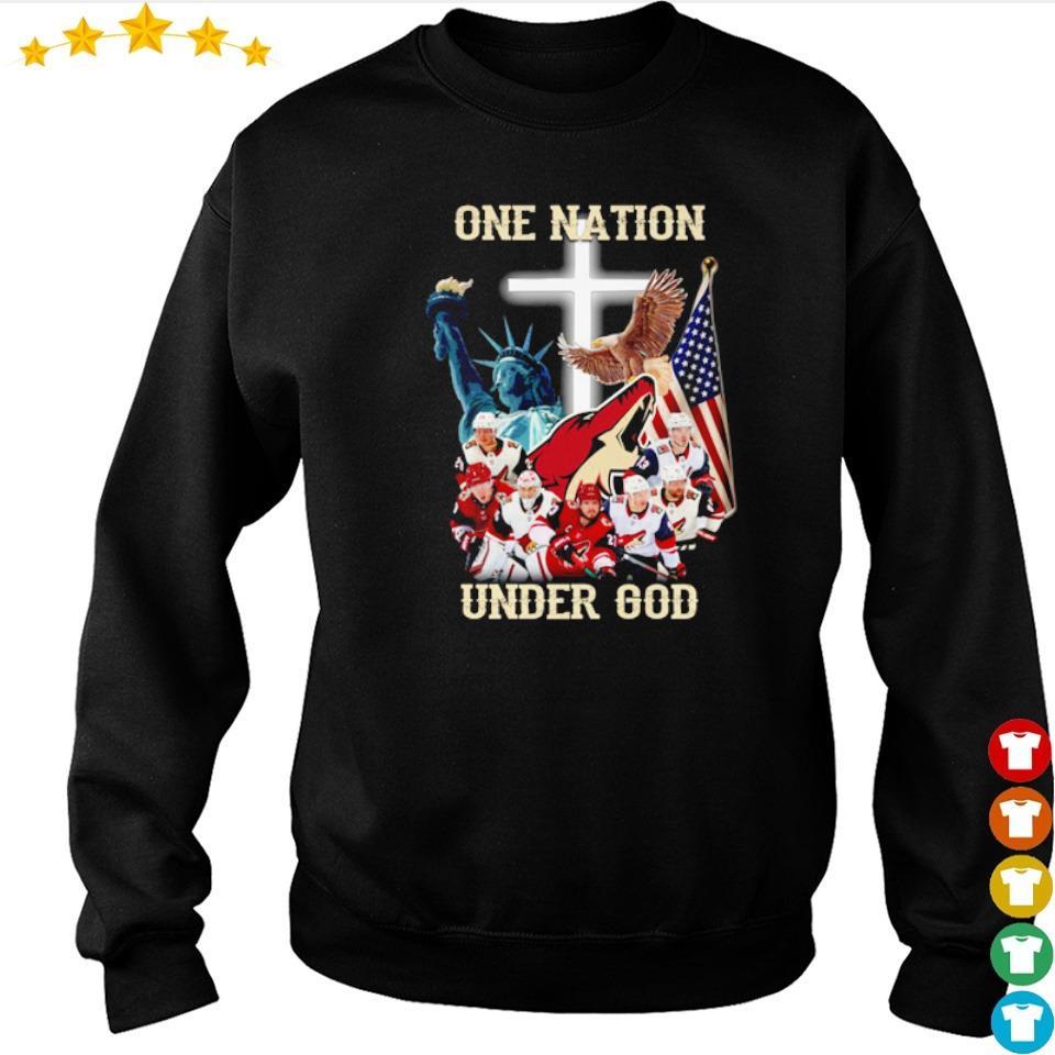 Arizona Coyotes one nation under God American Flag s sweater