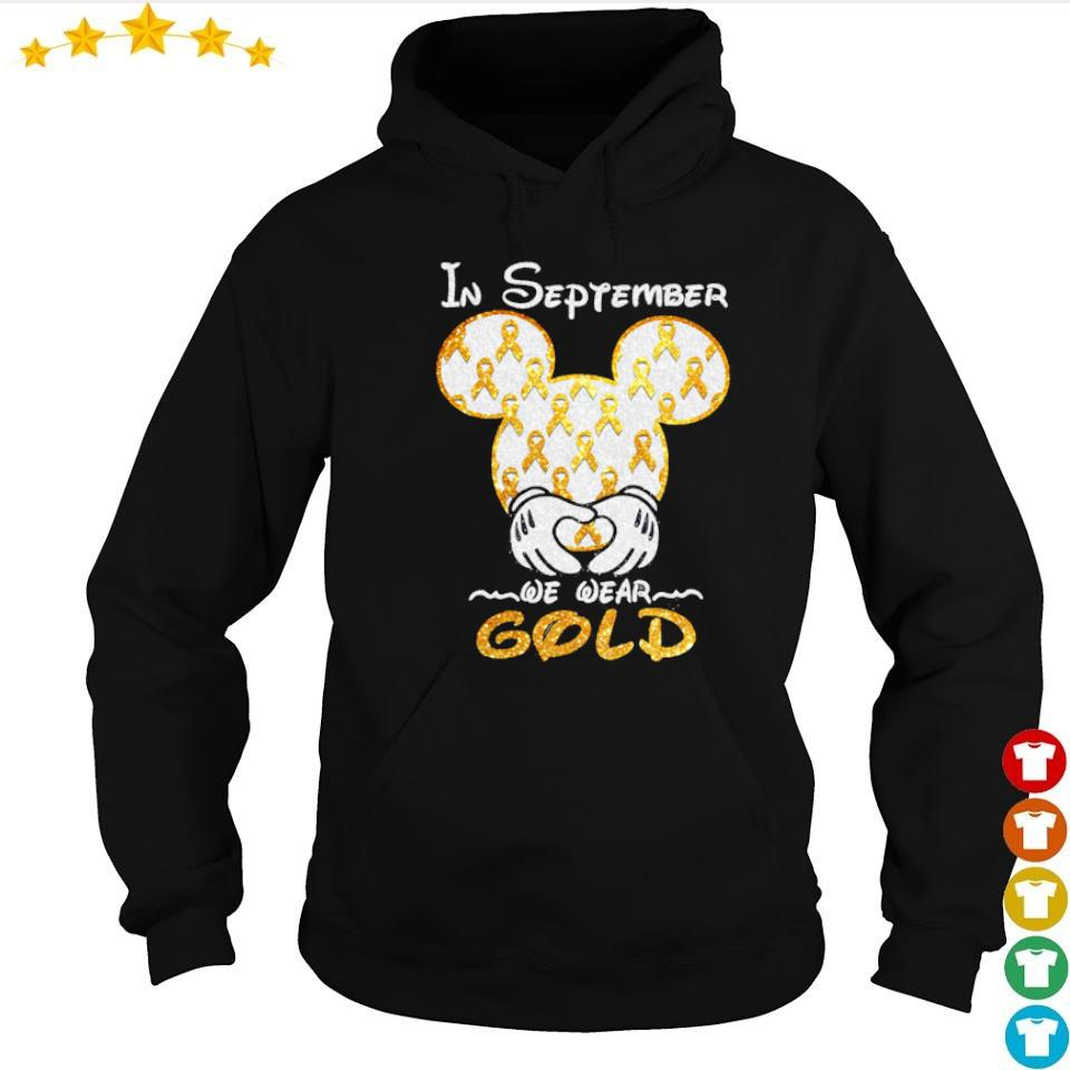 Autism Awareness Mickey Mouse in september we wear gold s hoodie