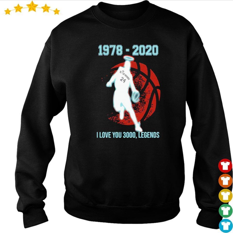 Black Mamba 1978 2020 I love you 3000 legends s sweater