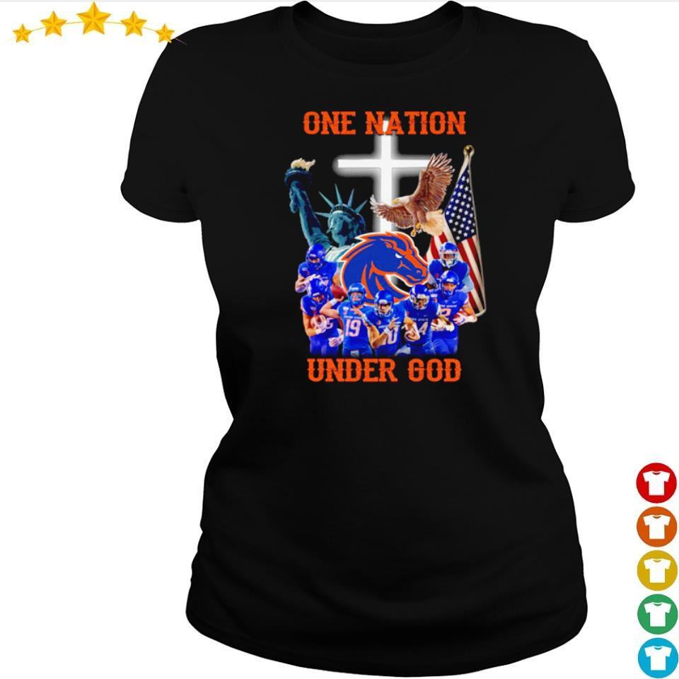 Boise State Broncos one nation under God American Flag s ladies tee