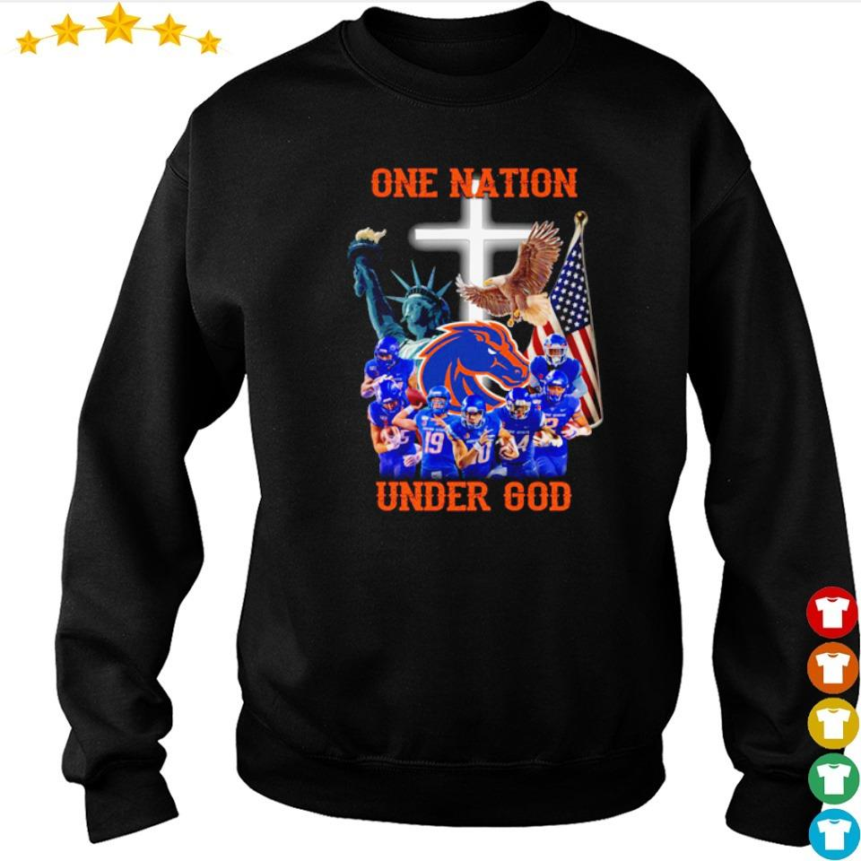 Boise State Broncos one nation under God American Flag s sweater