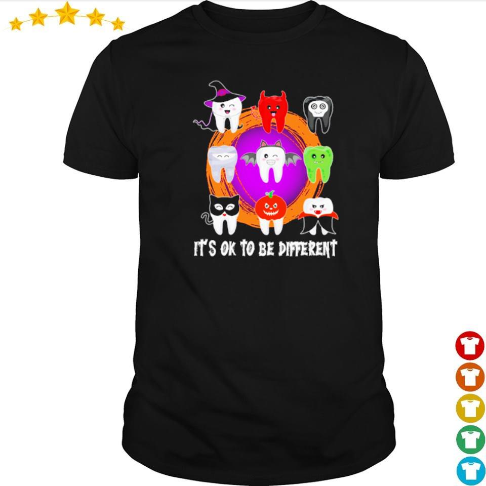 Dental Halloween it's ok to be different shirt